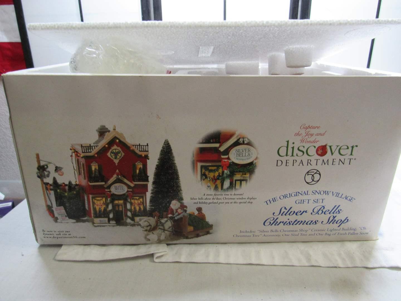 "Lot # 73  Dept 56 Snow Village ""The Original Snow Village Gift Set"" appears complete (main image)"