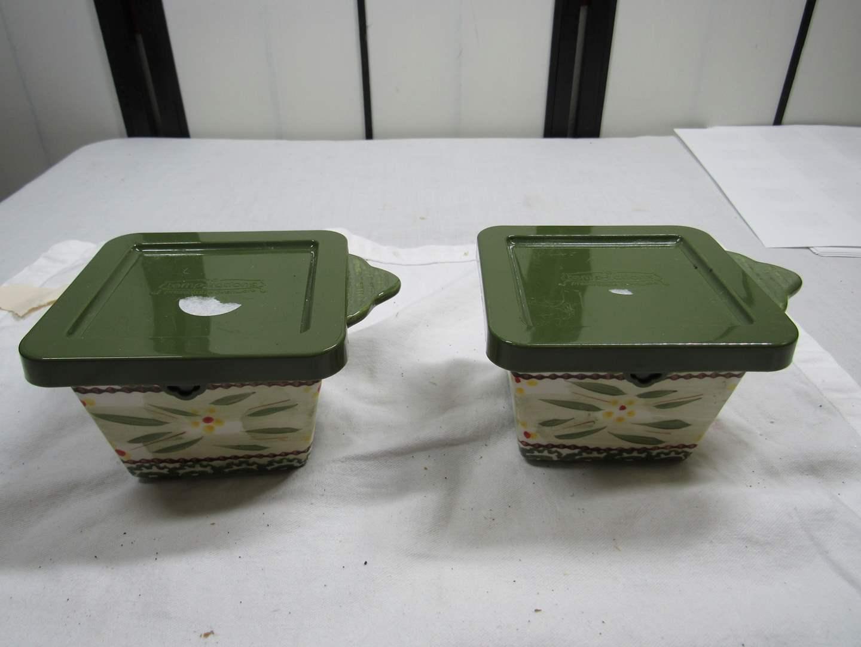 Lot # 92  2 covered Temp-Tations storage bowls (main image)