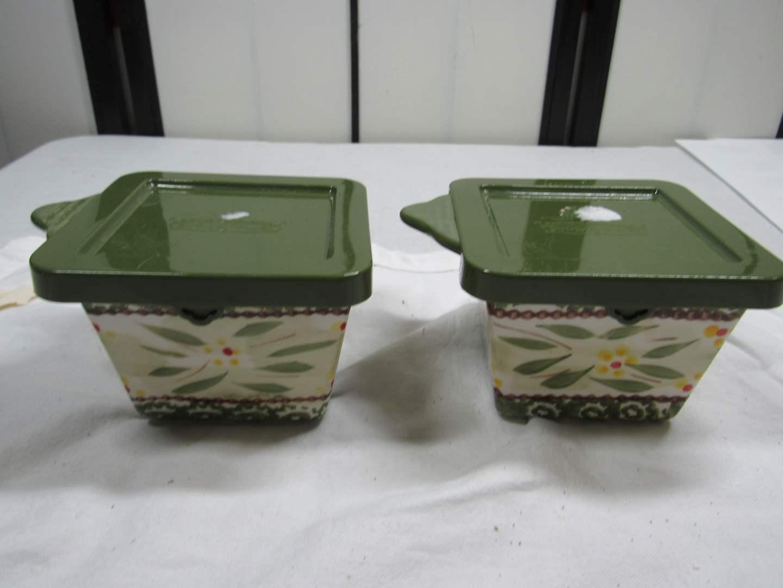 Lot # 93  2 covered Temp-Tations covered storage bowls (main image)