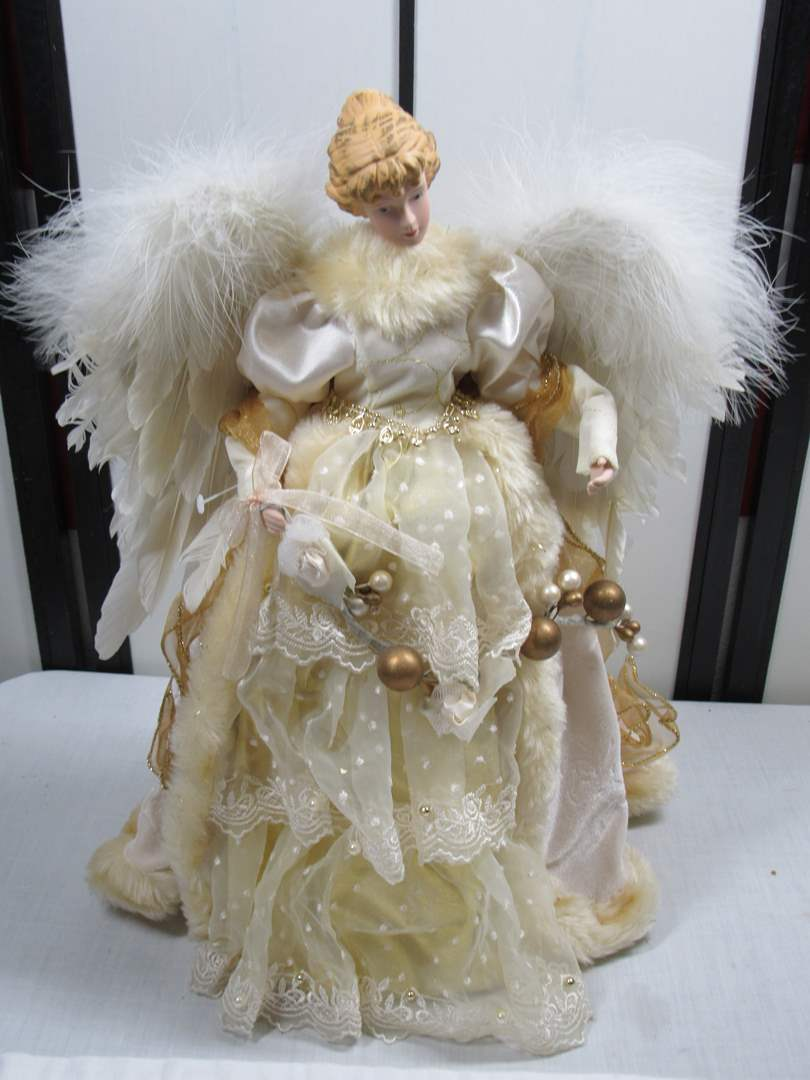 Lot # 100  Large Holiday Angel (main image)