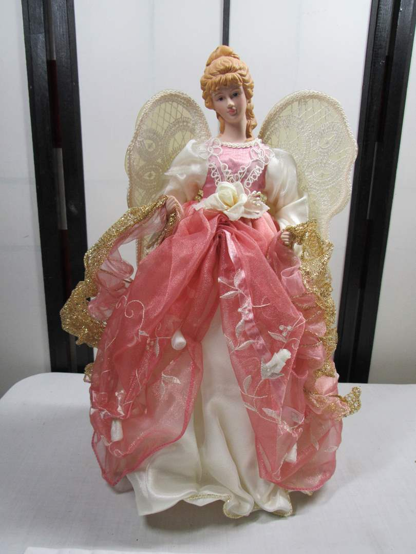 Lot # 238  Large Holiday Angel (main image)