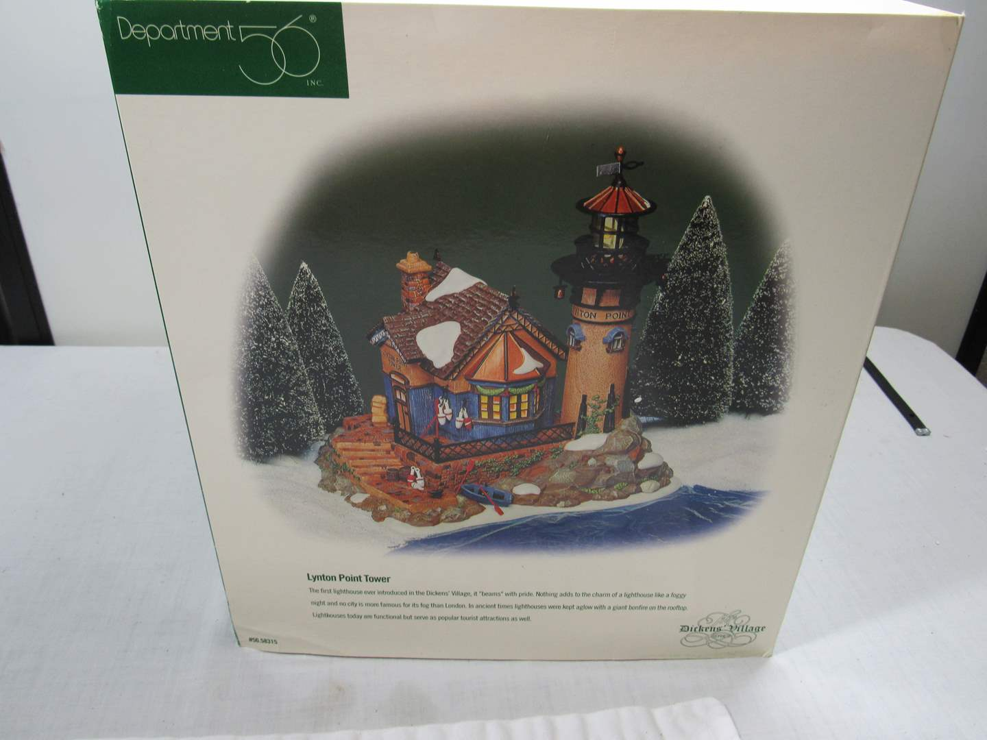 "Lot # 254  Dept 56 ""Lynton Point Tower"" Dickens Village Series (main image)"