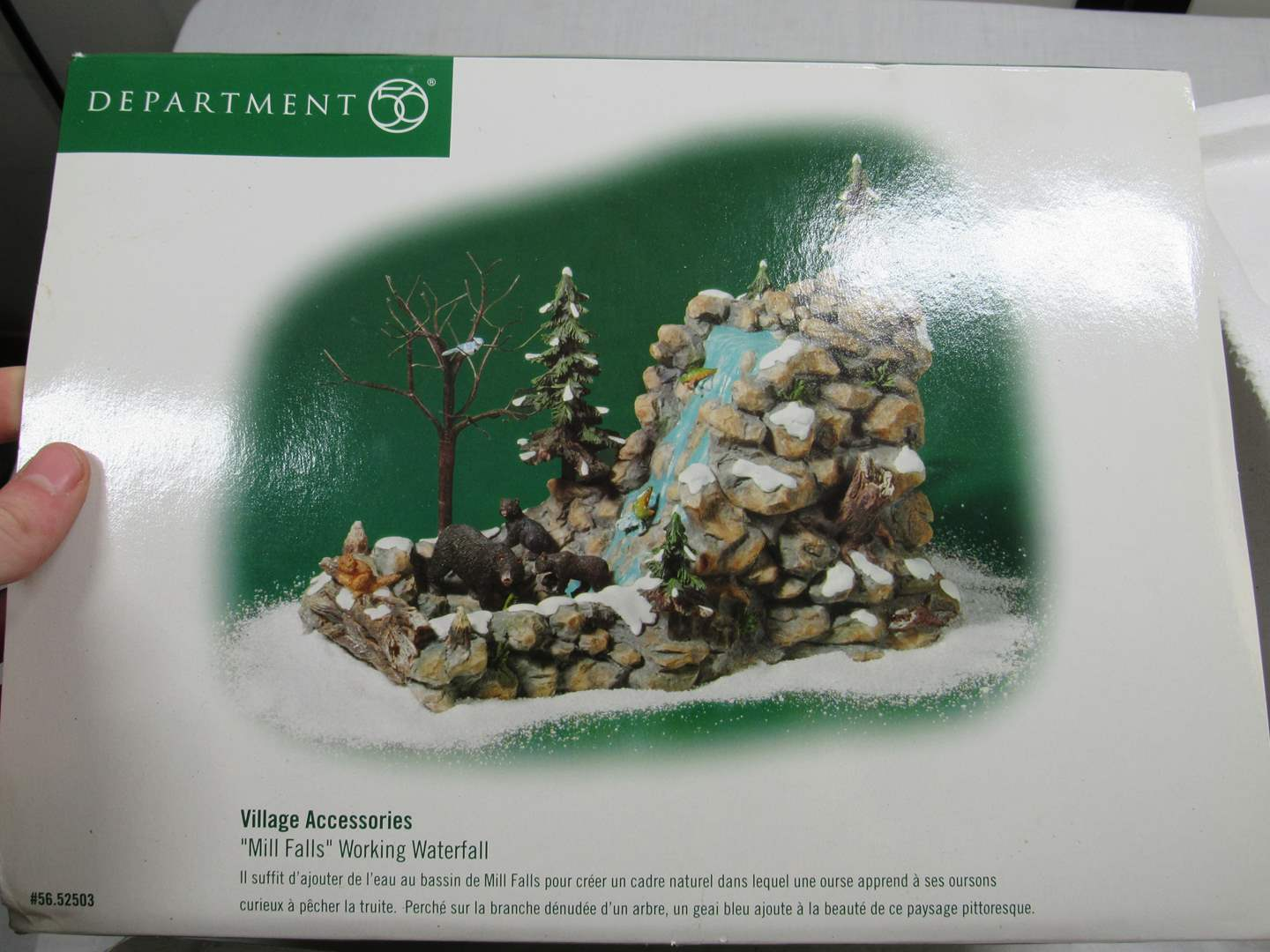 Lot # 258  AWESOME Dept 56 Village Accessories Waterfall (main image)