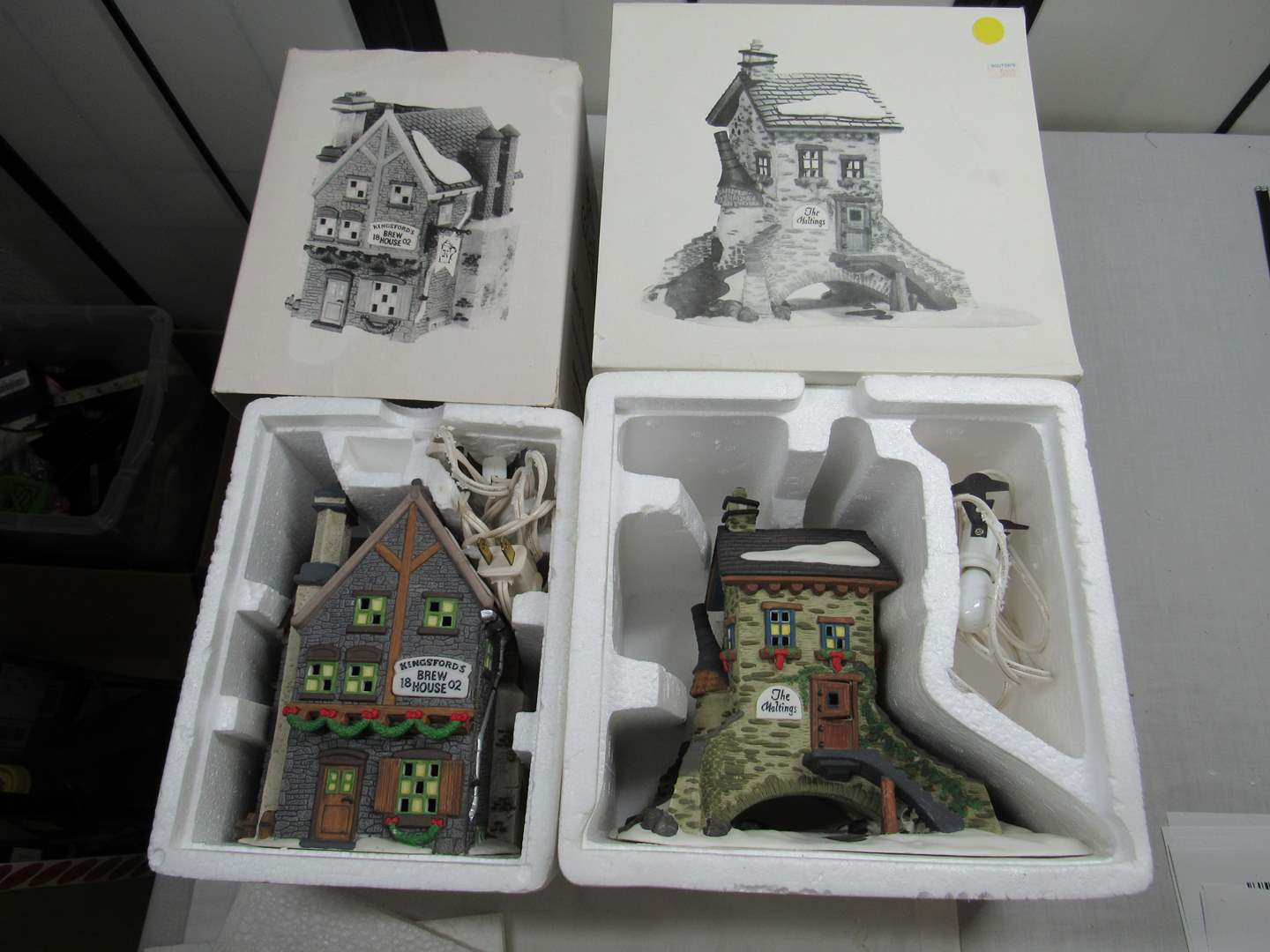 "Lot # 269   Dept 56 Dickens Village Series  ""The Maltings & Kingsford Brew House"" (main image)"