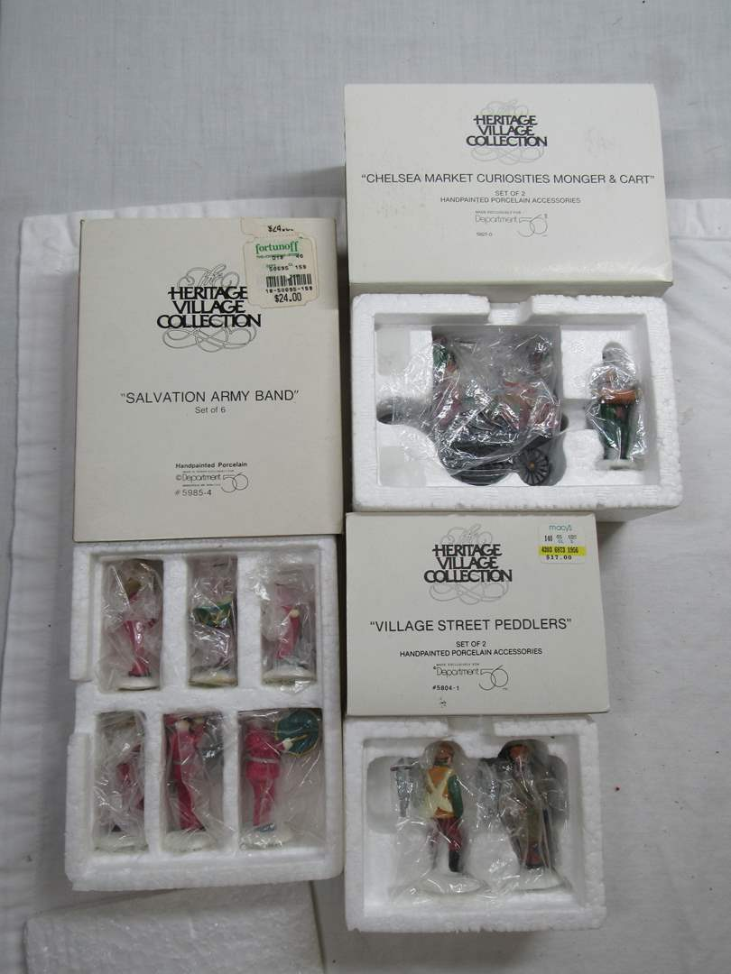 Lot # 278   Dept 56 Dickens Village Series Large lot of accessories (main image)
