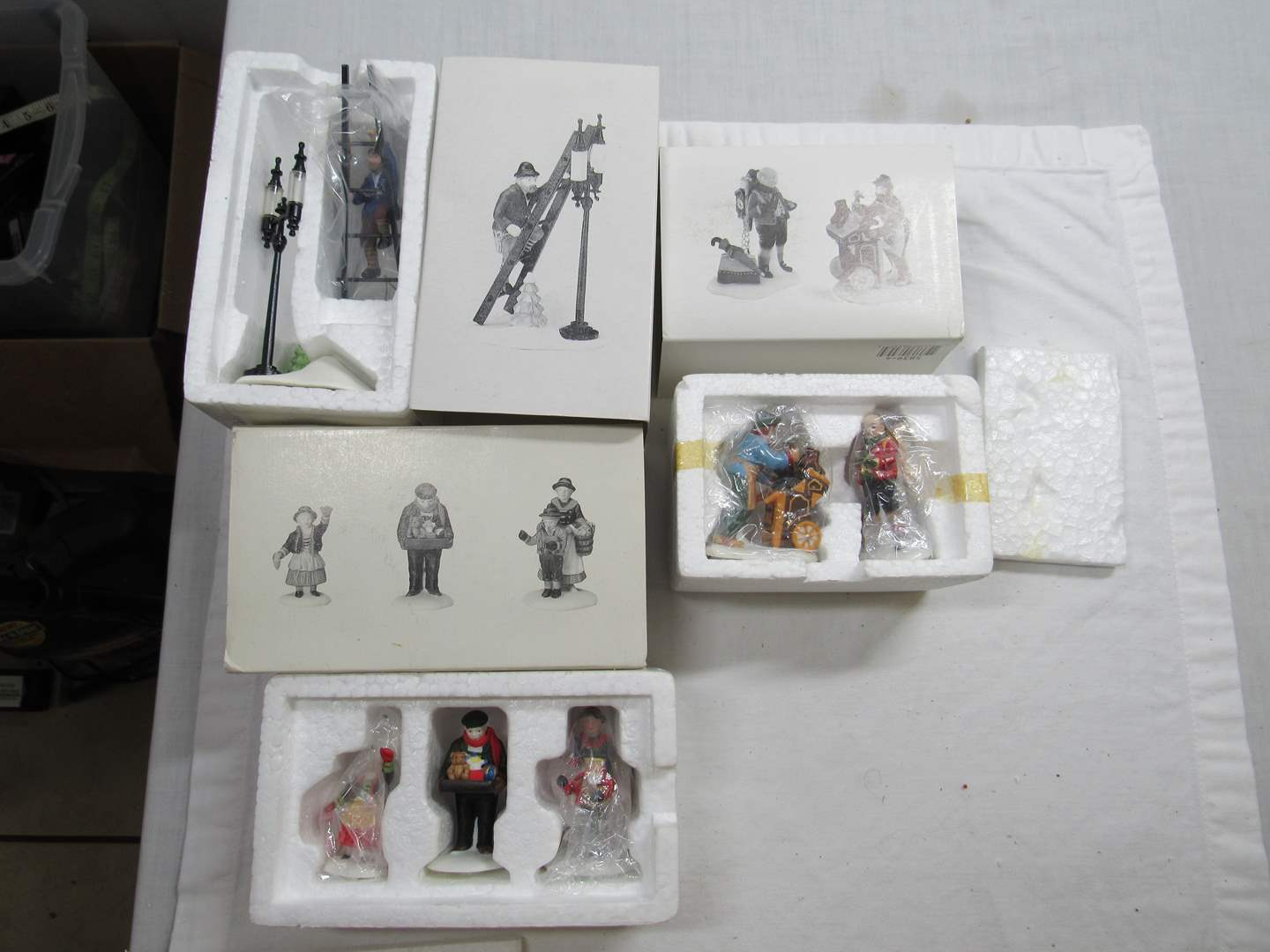 Lot # 280   Dept 56 Dickens Village Series Large lot of Accessories  (main image)