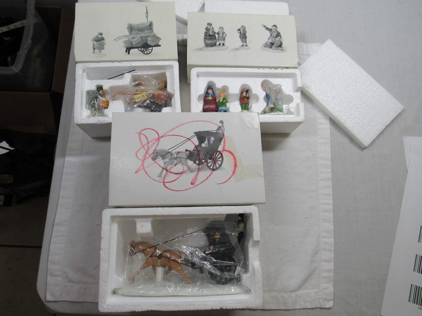 Lot # 286   Dept 56 Dickens Village Series Large lot of Accessories (main image)