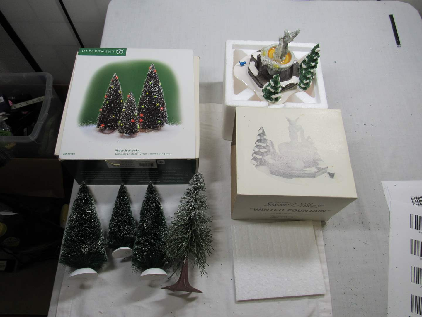 Lot # 287   Dept 56 Dickens Village Series lot of Accessories (main image)