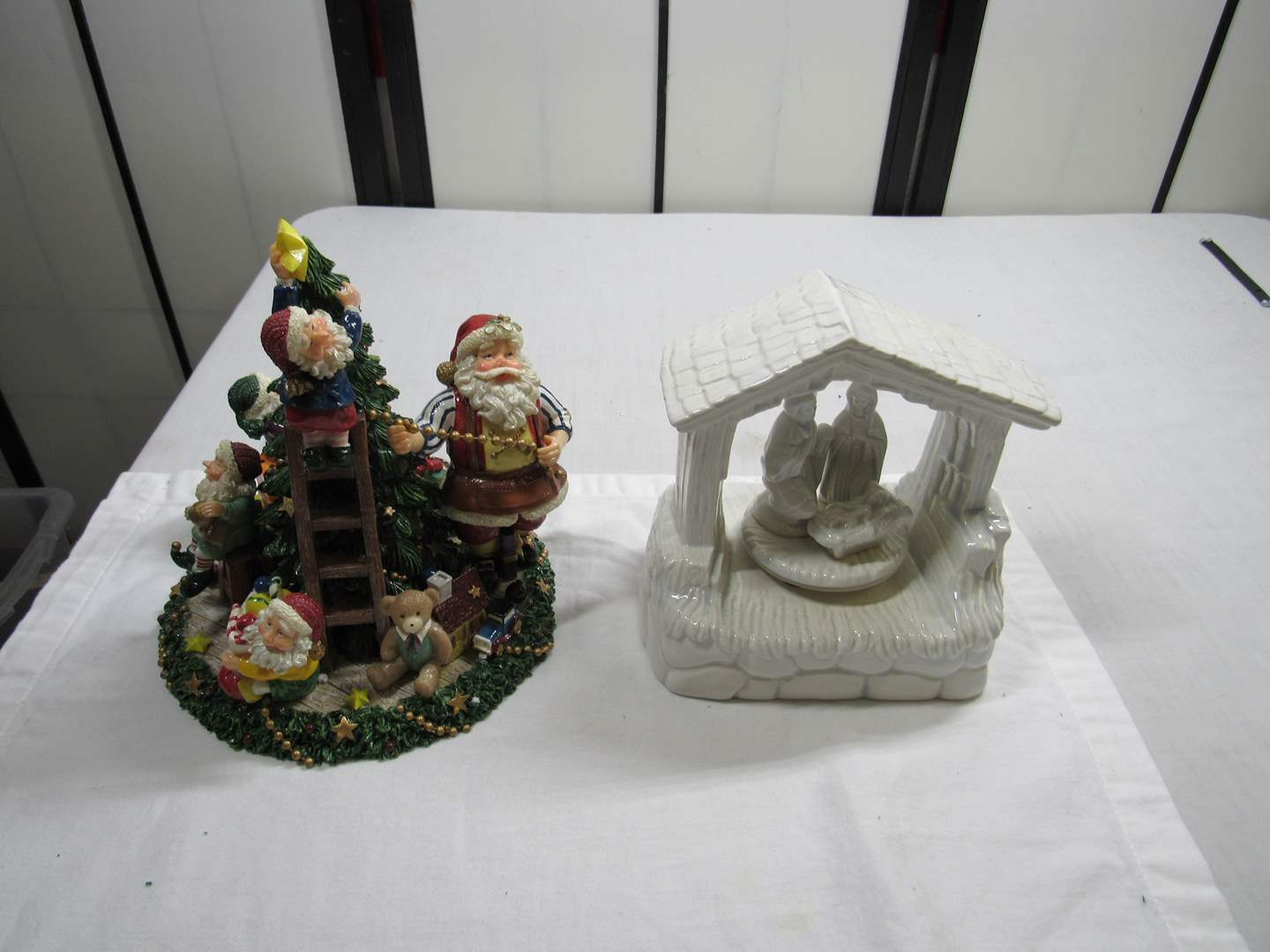 Lot # 295  2 Christmas Music Boxes (Both work) (main image)