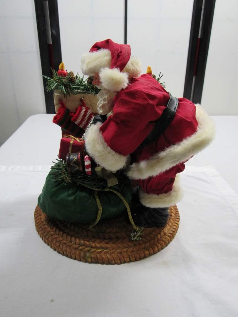 Lot # 296  Holiday Santa figure (main image)