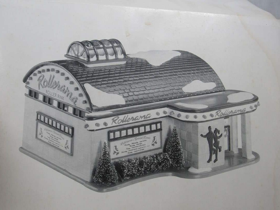 """Lot # 61 Dept 56 Snow Village :Rollerama Roller Rink"""" no light (main image)"""