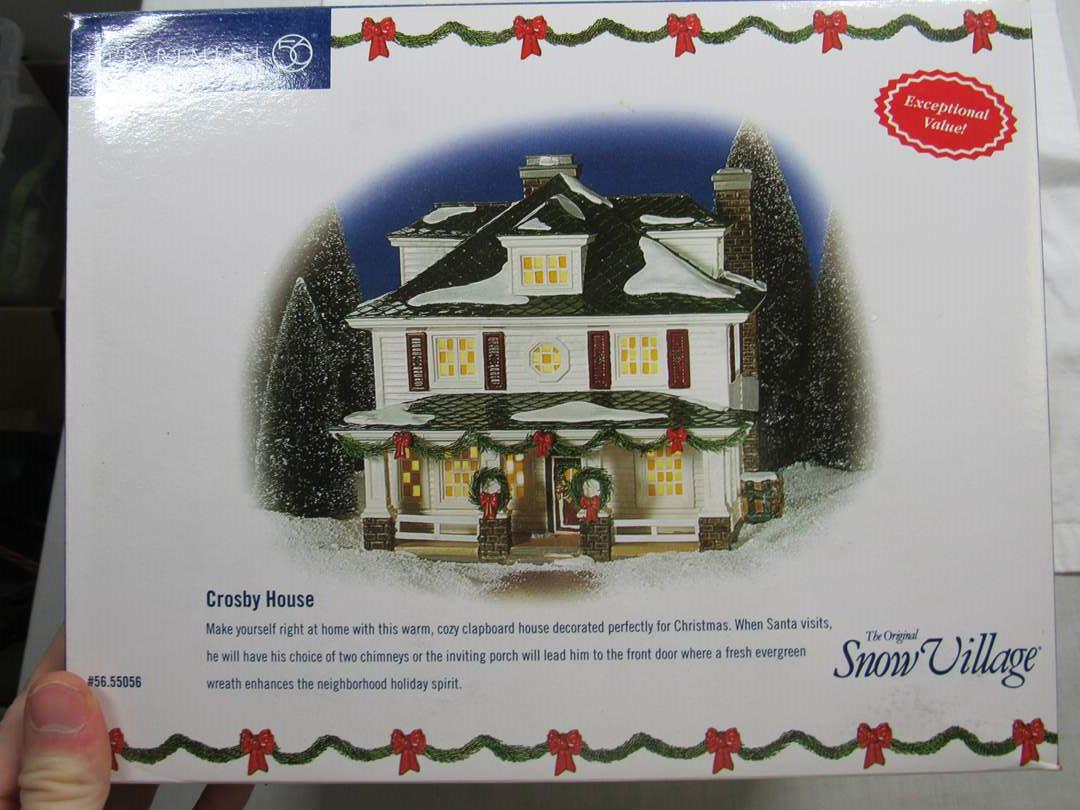 "Lot # 64  Dept 56 Snow Village ""Crosby House"" no light (main image)"