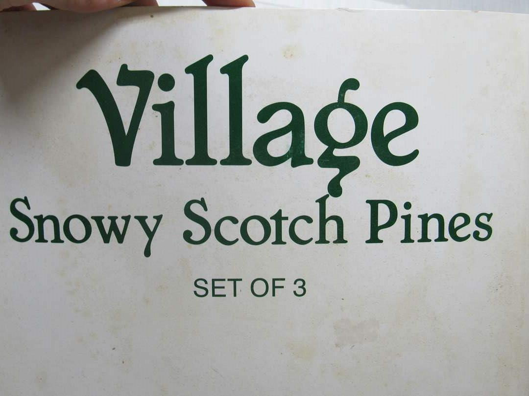 "Lot # 70  Dept 56 Snow Village ""Snowy Scotch Pine"" (main image)"
