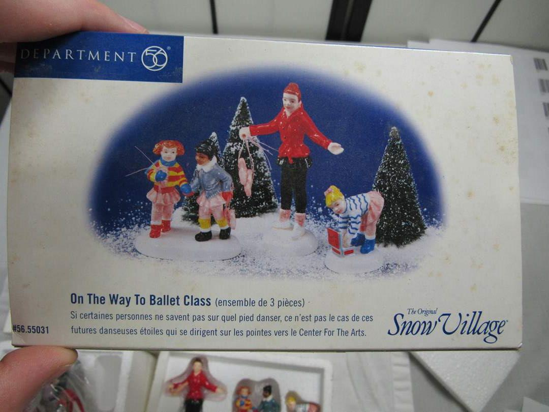 """Lot # 75  Dept 56 Snow Village """"This Way to Ballet Class"""" (main image)"""