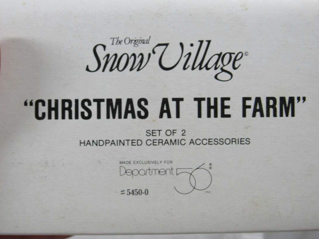 "Lot # 79  Dept 56 Snow Village ""Christmas at the Farm"" (main image)"