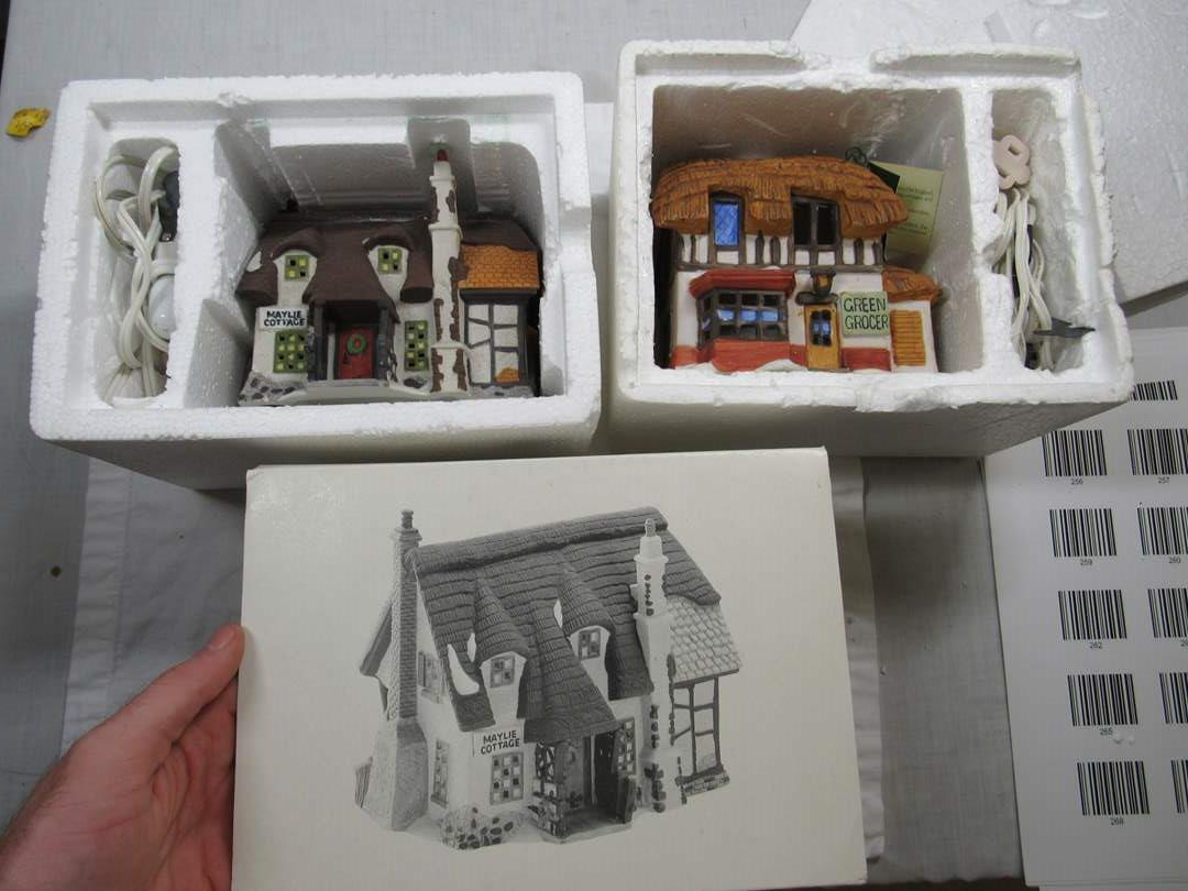 Lot # 256  2  Dept 56 Dickens Village Series houses to include Oliver Twist (main image)