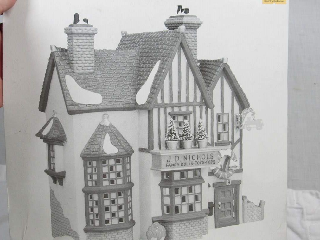 """Lot # 257   Dept 56 Dickens Village Series """"J.D. Nichols Toy Shop (main image)"""
