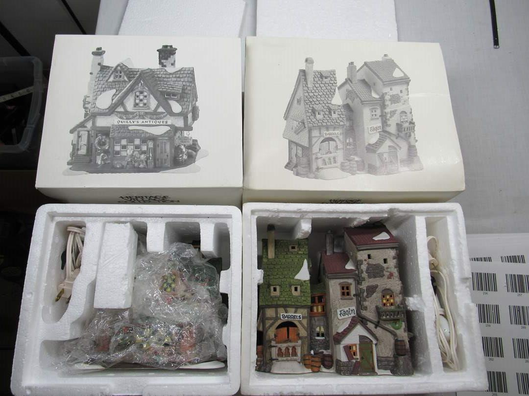 """Lot # 259   Dept 56 Dickens Village Series to include """"Oliver Twist"""" & Quilly's House (main image)"""