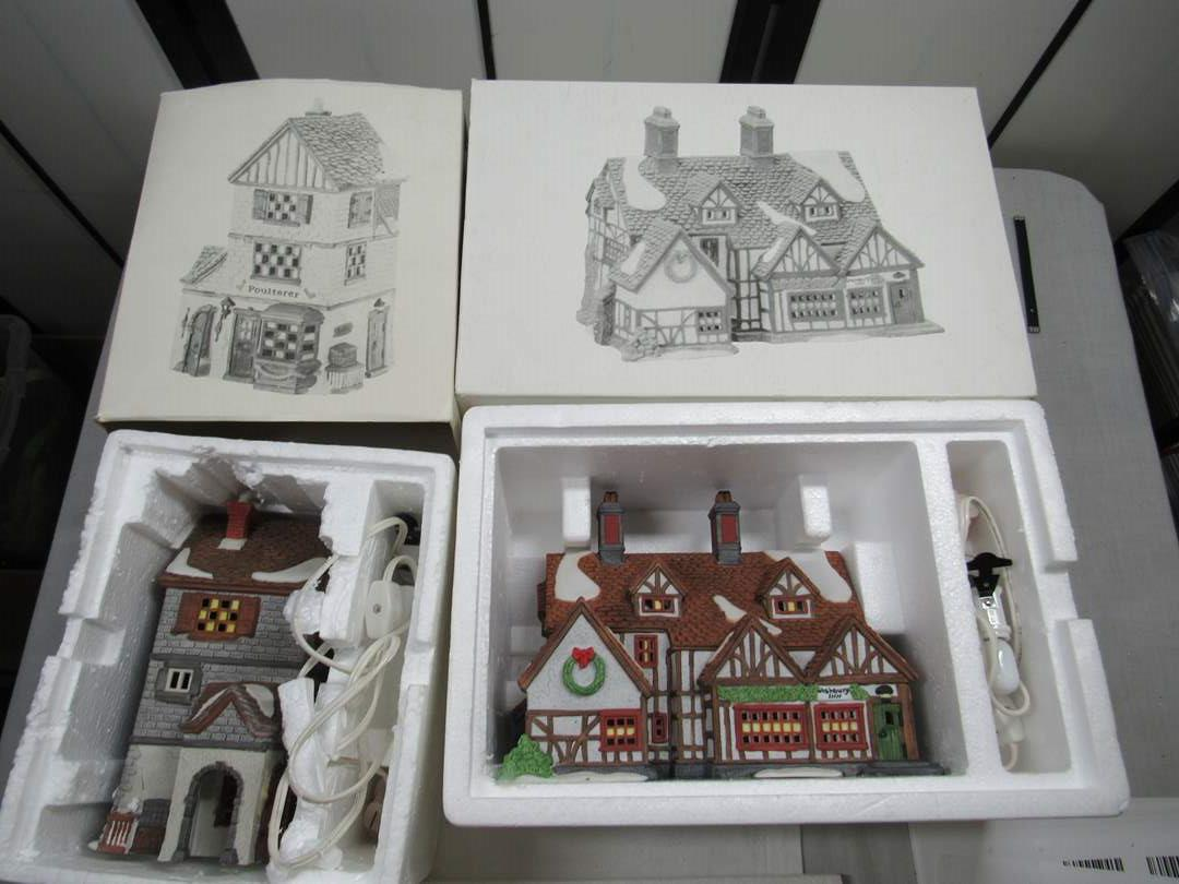 "Lot # 264  2 Dept 56 Dickens Village Series  ""Poulterer & Ashbury"" (main image)"
