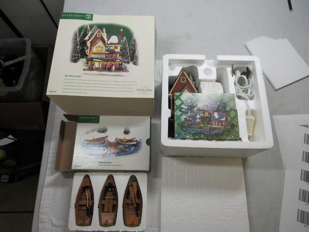 Lot # 285   Dept 56 Dickens Village Series House & accessories (main image)