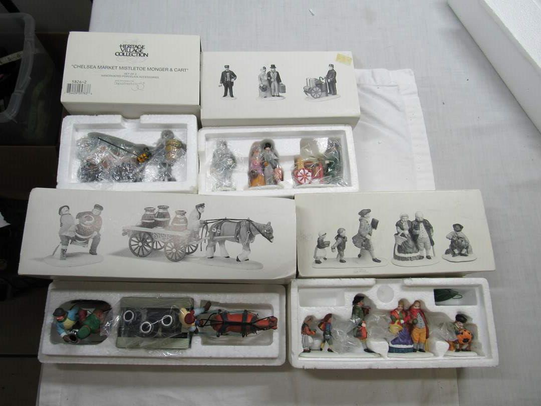 Lot # 289   Dept 56 Heritage Village Series Large lot of Accessories (main image)