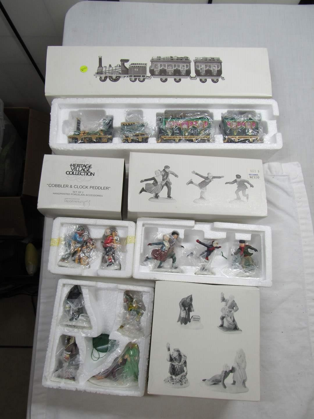 Lot # 290   Dept 56 Heritage Village Series Large lot of Accessories (main image)