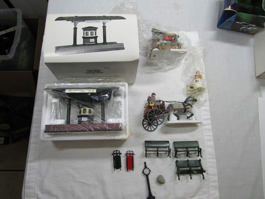 Lot # 291   Dept 56 Heritage Village Series Large lot of Accessories (main image)