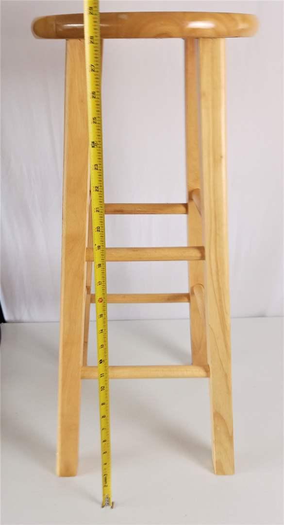 """Lot # 29 Wood Bar Stool 30"""" tall & 13"""" wide seat"""