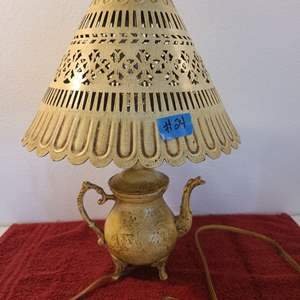 Auction Thumbnail for: Lot # 24 Adorable Tea Pot Inspired Lamp