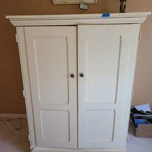 Auction Thumbnail for: Lot # 49 Large TV Cabinet W/ Front Shutting Doors and 4 Shelves Inside