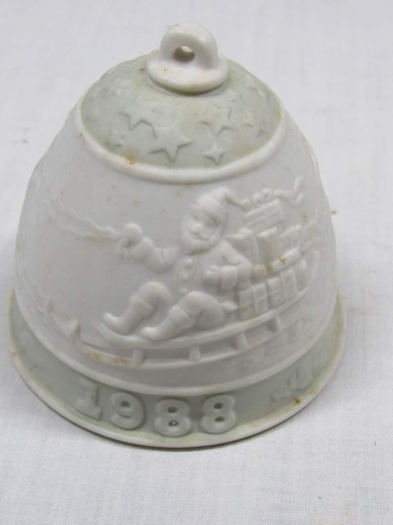 "Lot # 62  1988 Lladro bell 3"" tall (main image)"