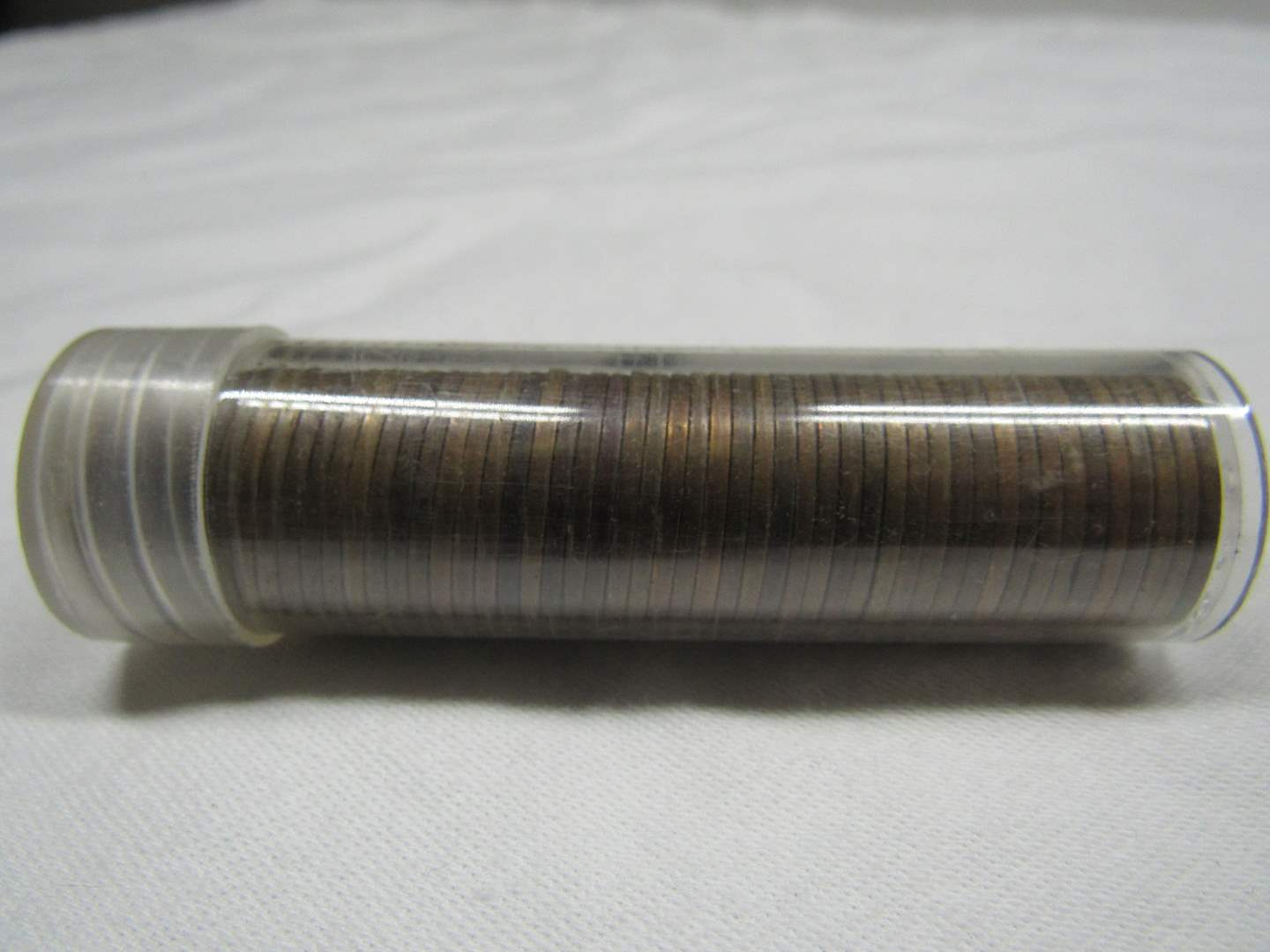 Lot # 109  Guaranteed unsearched roll wheat pennies 1936-D (main image)