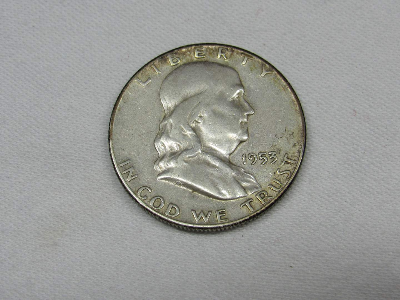 Lot # 113  1953 Franklin Half Dollar 90% silver (main image)