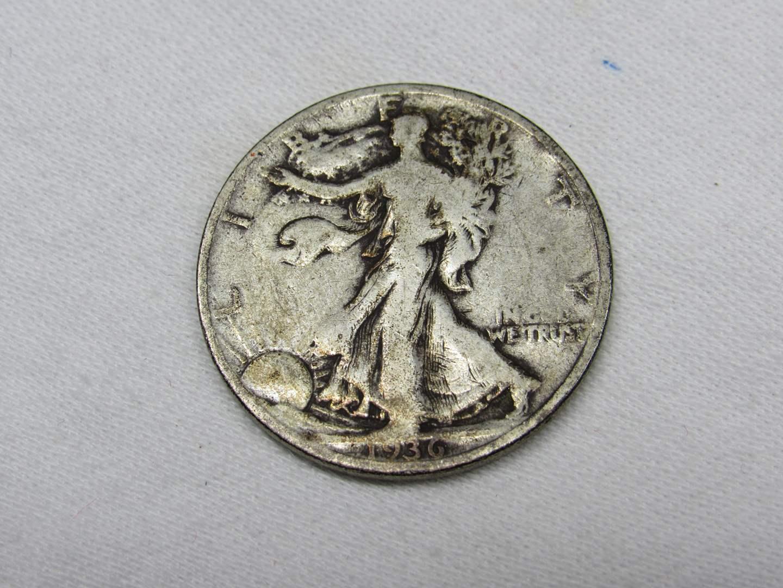 Lot # 114  1936 Standing Liberty 90% silver half dollar (main image)