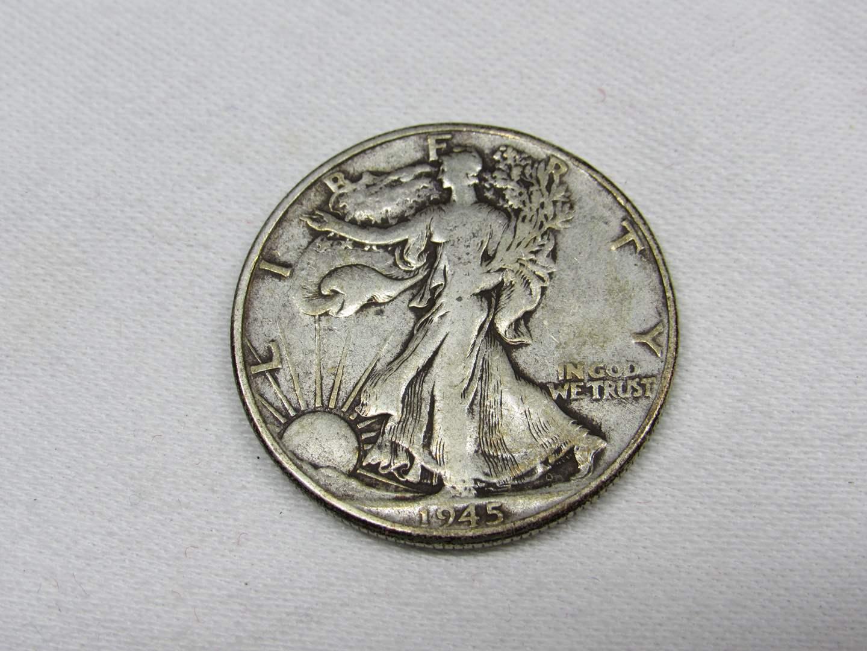Lot # 116  1945 Standing Liberty 90% silver half dollar (main image)