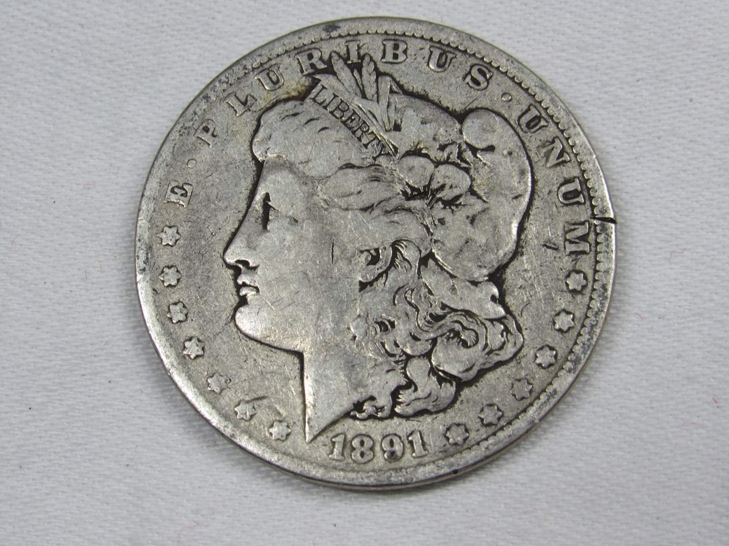 Lot # 124  1891 Silver Morgan Dollar (main image)