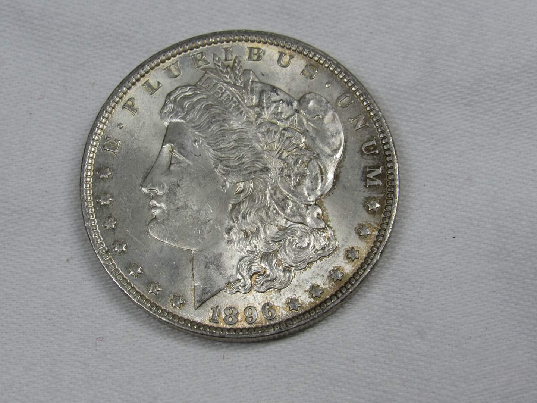 Lot # 125  1896 Silver Morgan Dollar (GREAT coin) (main image)