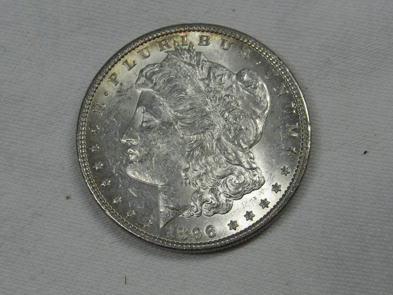 Lot # 126  1896 Silver Morgan Dollar (nice coin) (main image)