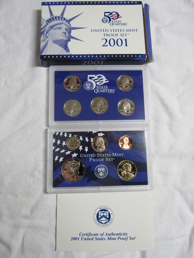 Lot # 138  2001 United States Mint Coin Set (double set) (main image)