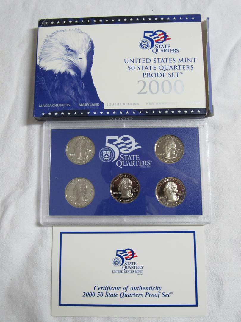 Lot # 139  2000 United States Mint State quarters (main image)