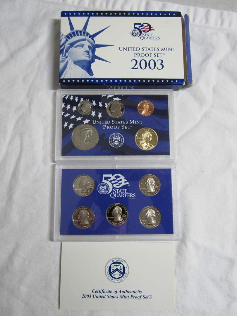 Lot # 142  2003 United States Mint Proof Set  (main image)