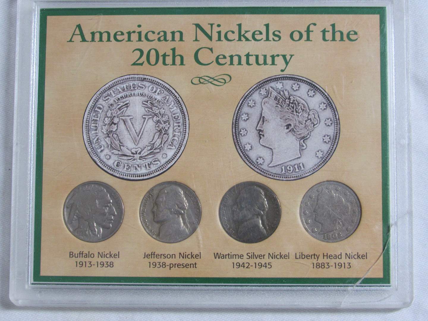 Lot # 143  Display of American nickels of the 20th Century (main image)