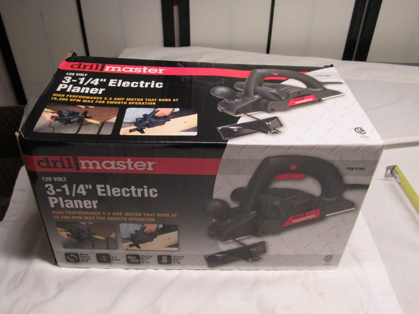 """Lot # 215  Drill Master 3 1/4"""" Electric Planer (new never used) (main image)"""