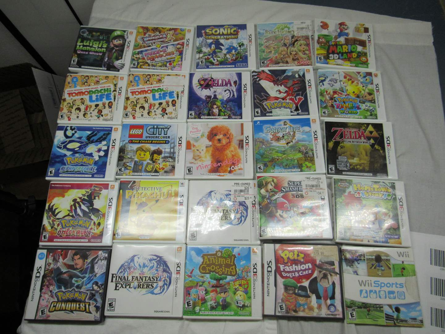 Lot # 231  Large group of empty games cases (2 have games as shown in pictures) (main image)