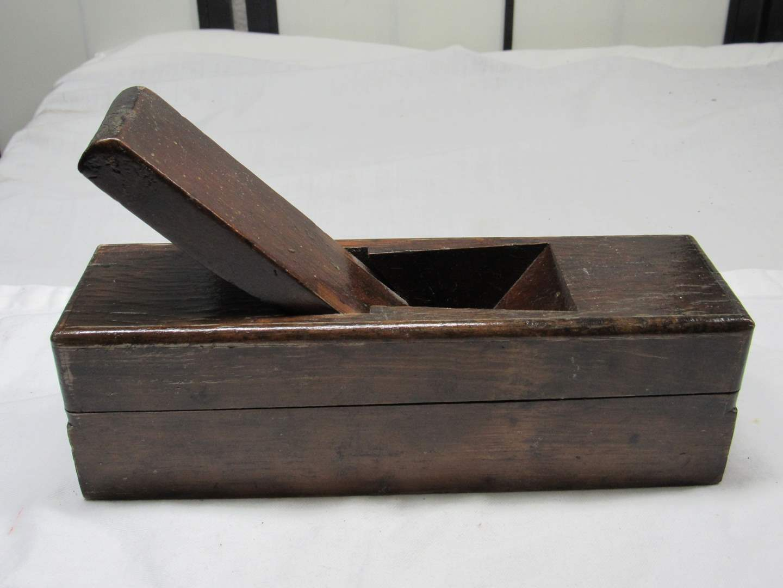 "Lot # 255  Wood Block plane 9"" long (no blade) (main image)"