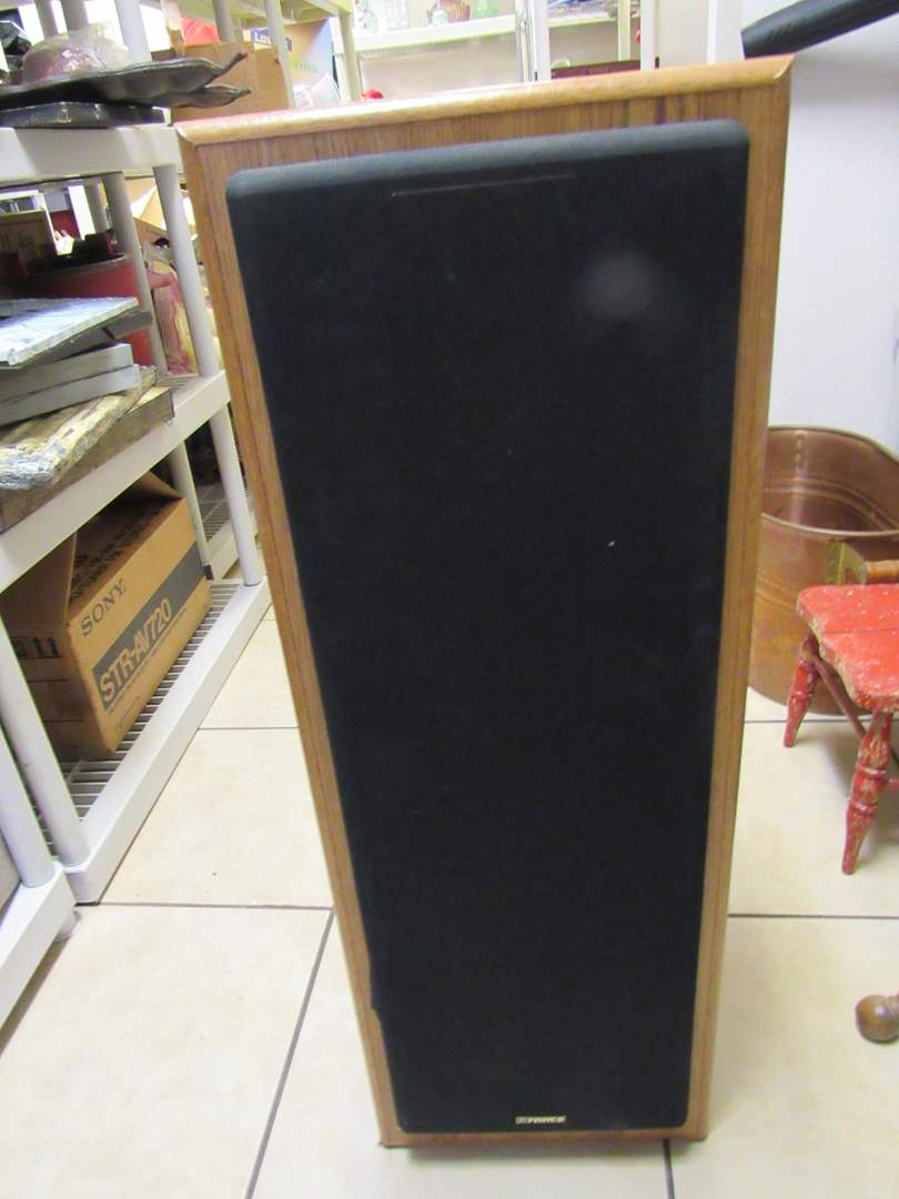 "Lot # 272  1 single fisher stereo speaker 36"" (untested) speakers look good (main image)"