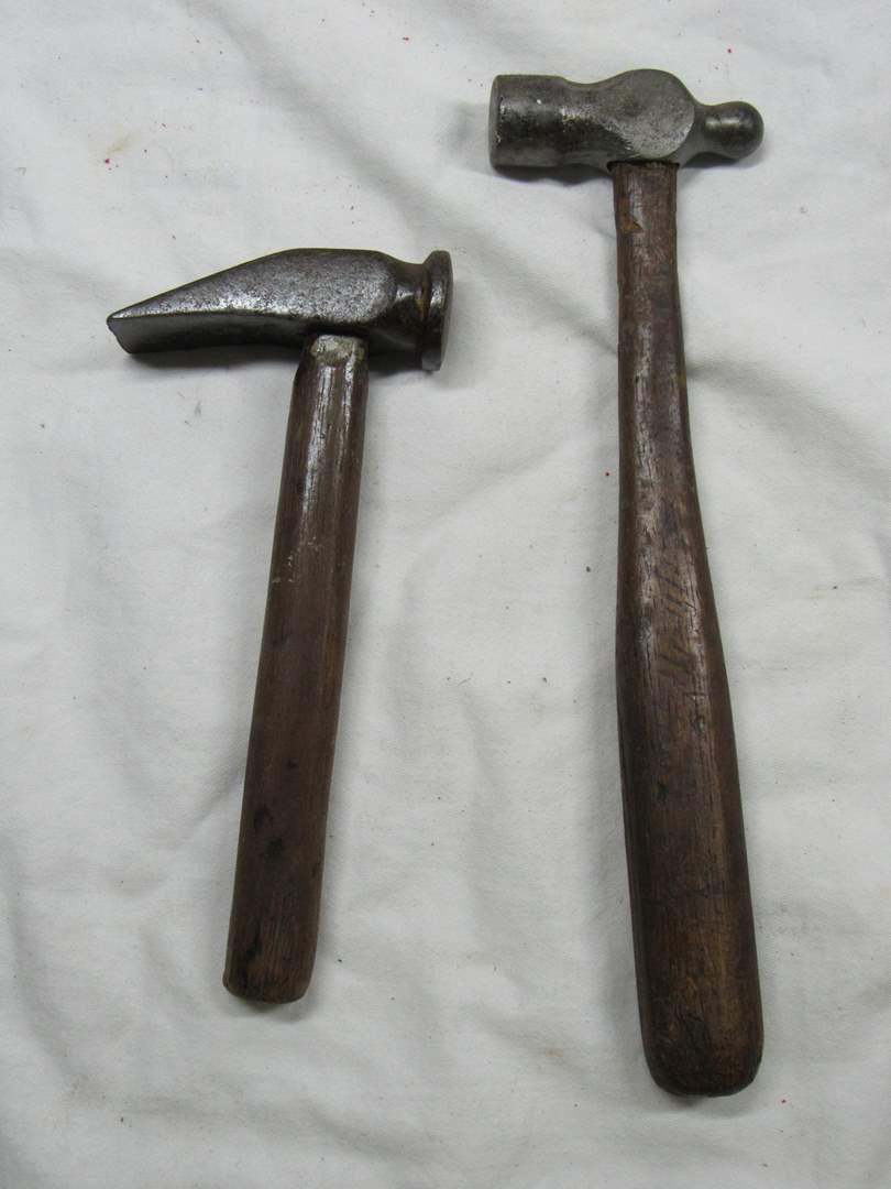 Lot # 289  2 antique Blacksmith hammers (main image)
