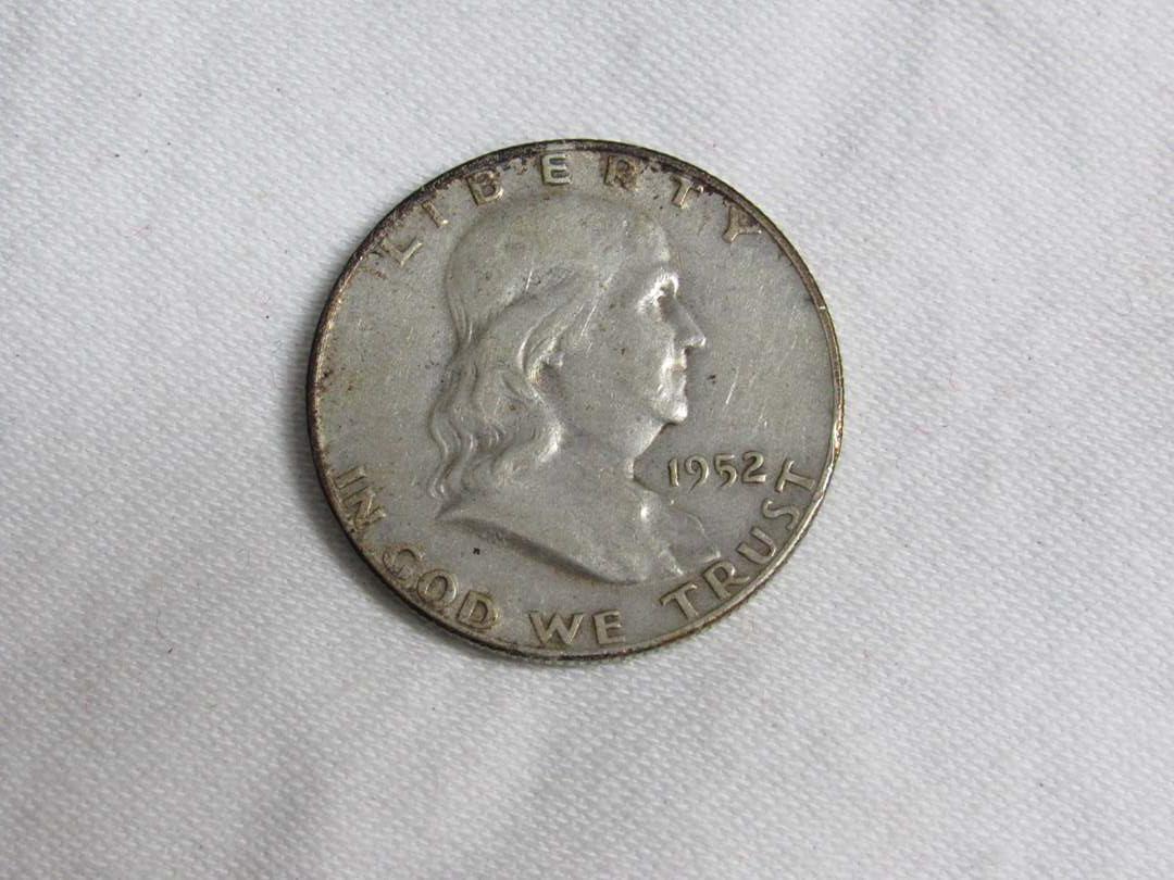 Lot # 173  1952 Franklin 90% silver half dollar (main image)
