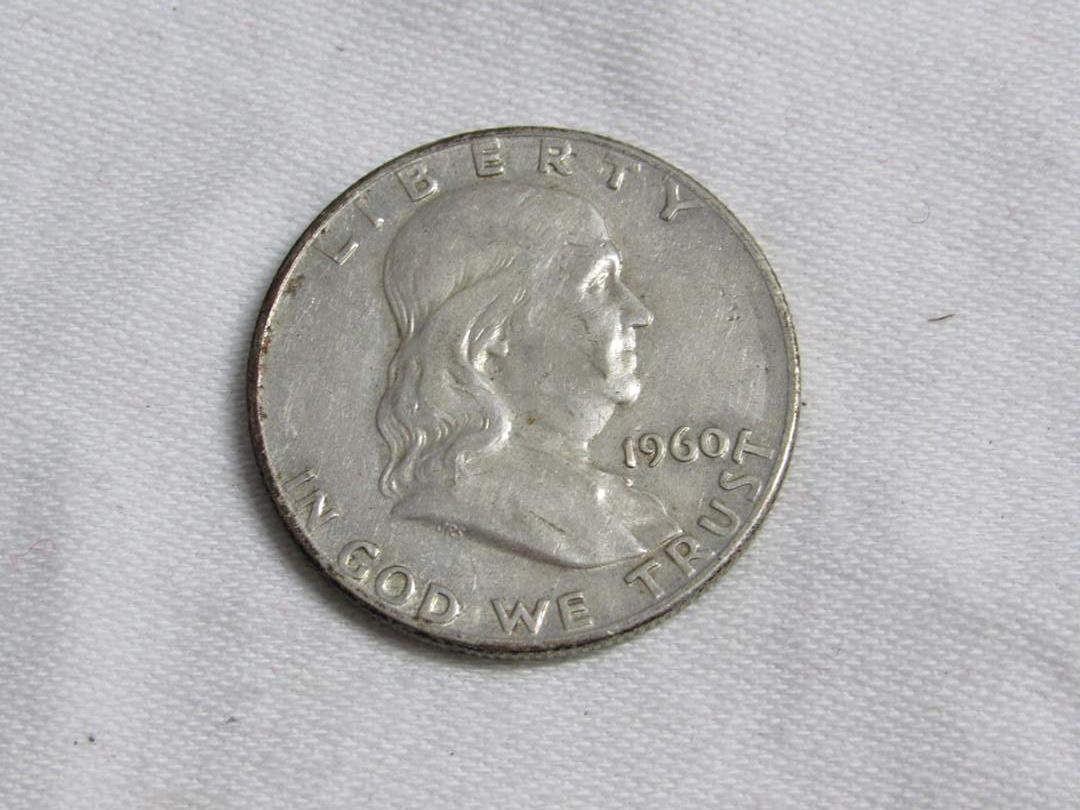 Lot # 177  1960 Franklin 90% silver half dollar (main image)