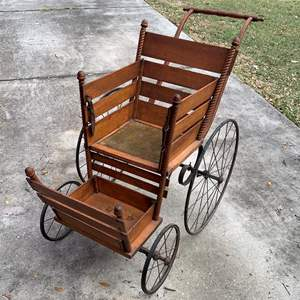 Auction Thumbnail for: Lot # 258 Incredible Mint Condition F A Whitney Carriage Co Antique Stroller. See Below